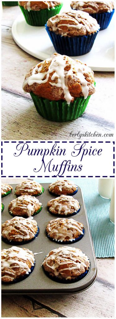 Pumpkin muffins in a pan.