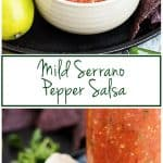 Our mild serrano pepper salsa is a unique take on the typical restaurant version and features fresh serrano peppers and a variety of savory spices.