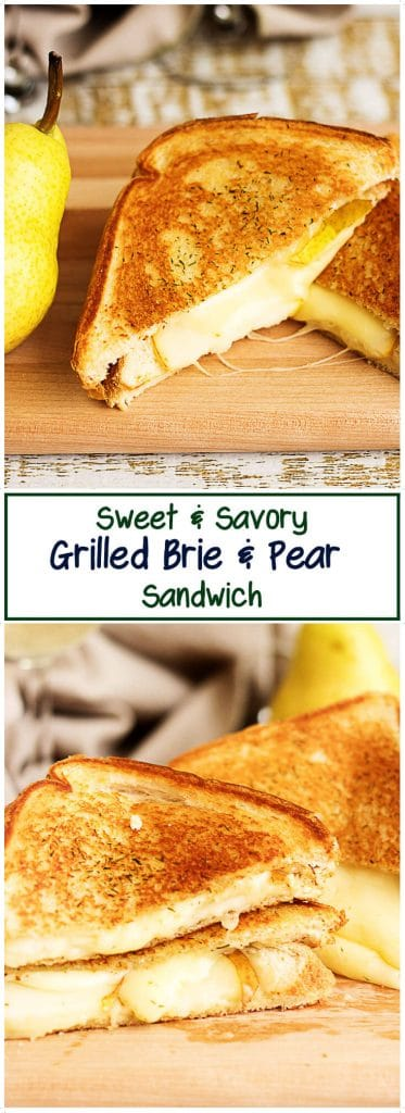 Our sweet and savory grilled brie and pear sandwiches are a delightful balance of ripe, fruity pears and salty, creamy brie cheese.