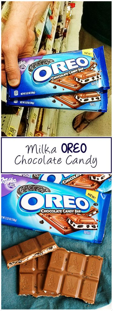 Milka Oreo Chocolate Candy bars broken out of the package.