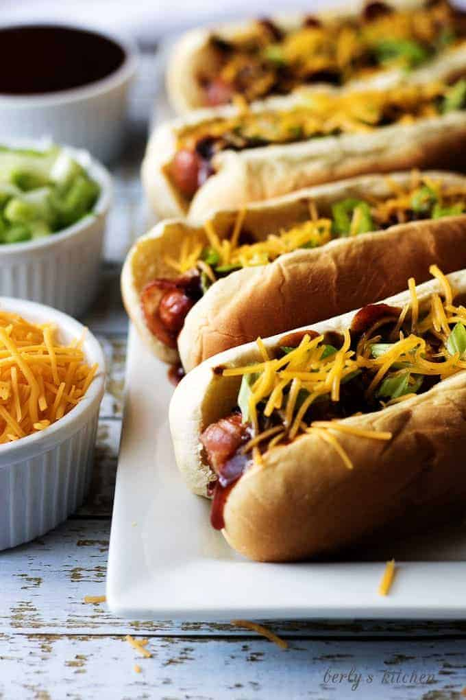 How to grill a hot dog with bacon 4 memphis-style bbq dog
