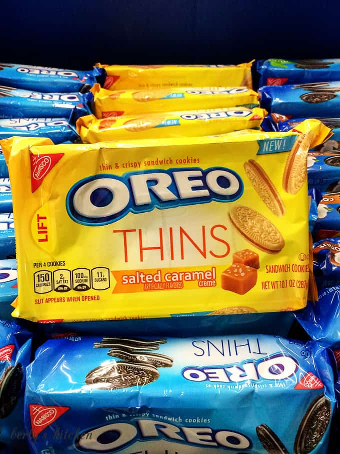 Package of salted caramel OREOs.