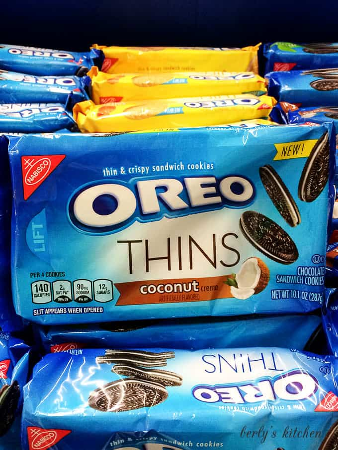 Package of coconut OREOs.