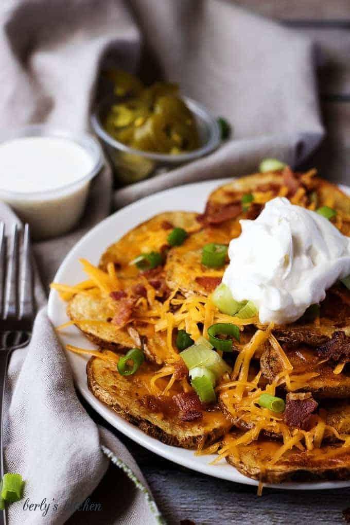 Oven baked loaded potato nachos 5 oven baked loaded potato nachos