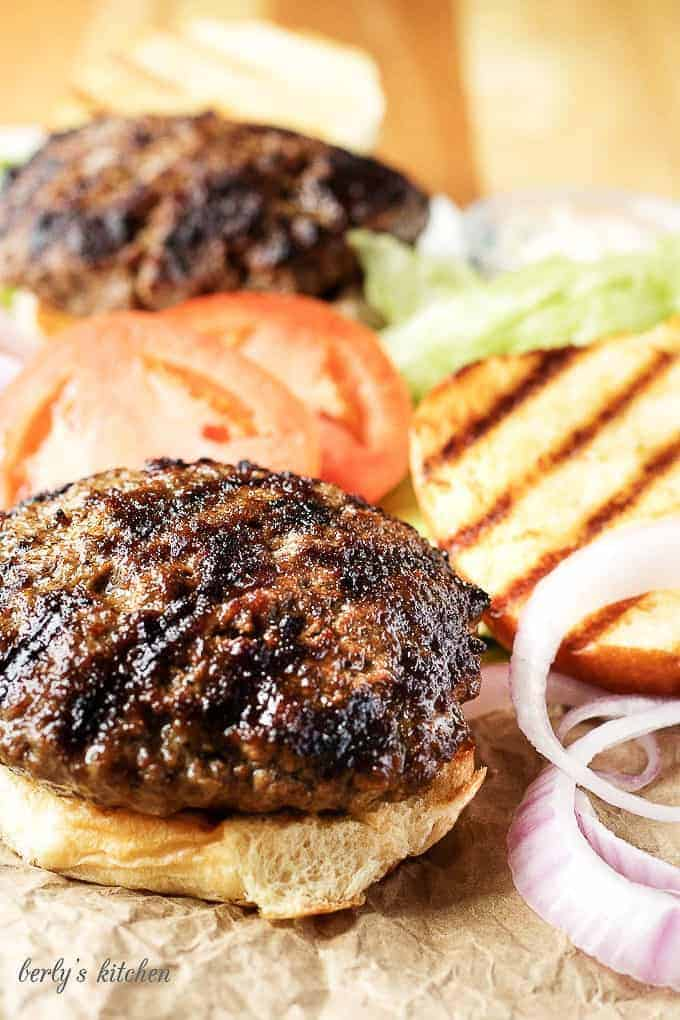 When it comes to making delicious stuffed burgers, it only takes a few key ingredients. Bacon, cheddar, and some choice spices create the ultimate burger!