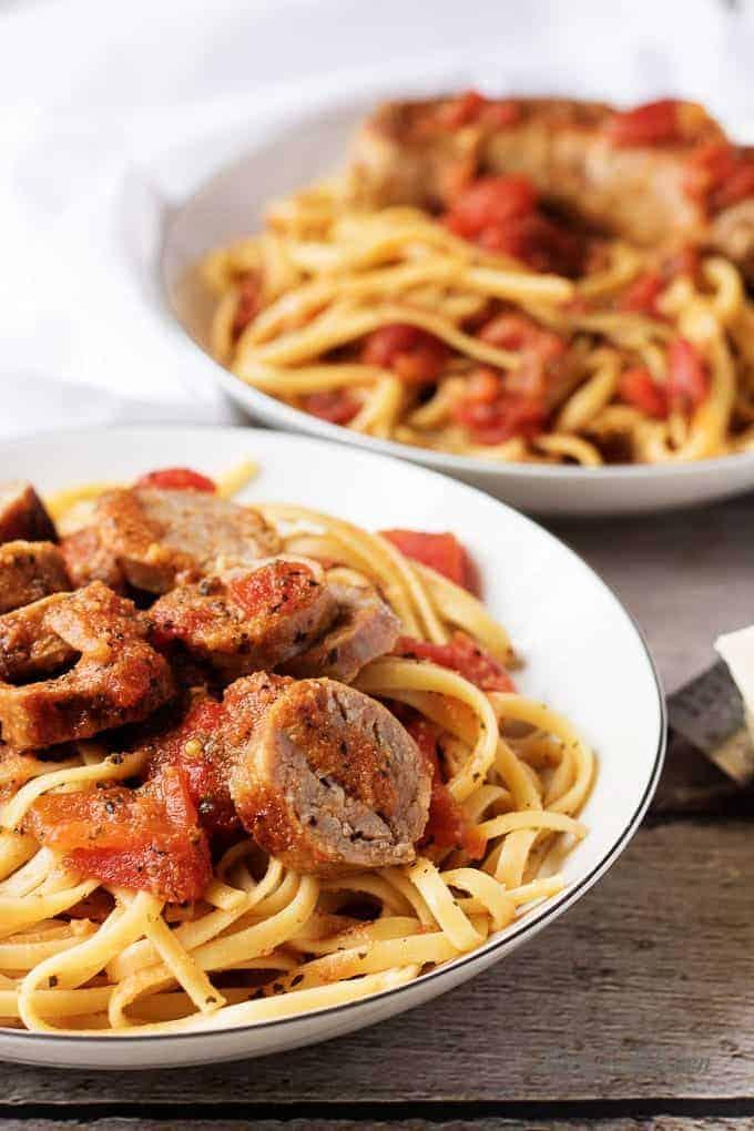 Italian sausage and tomato linguine recipe 8 italian sausage and tomato linguine