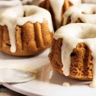 Celebrate Fall with our mini pumpkin spice bundt cakes. They're sized to share, filled with seasonal spices, and topped with maple frosting!