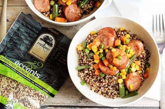 Sausage and veggie stir fry over quinoa 8 sausage and veggie stir fry over quinoa