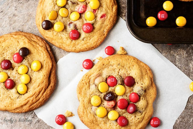 How do you make the best chewy chocolate chip cookies even better? Simple, all you have to do is add everyone's favorite candy, m&ms!
