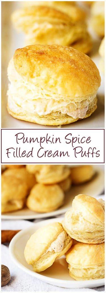 Pumpkin spice filled cream puffs long pin 1 pumpkin spice filled cream puffs
