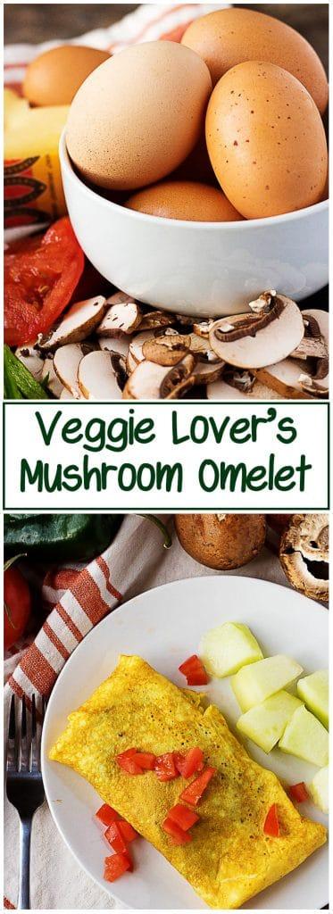 Veggie lovers mushroom omelet long 1 veggie lover's mushroom omelette