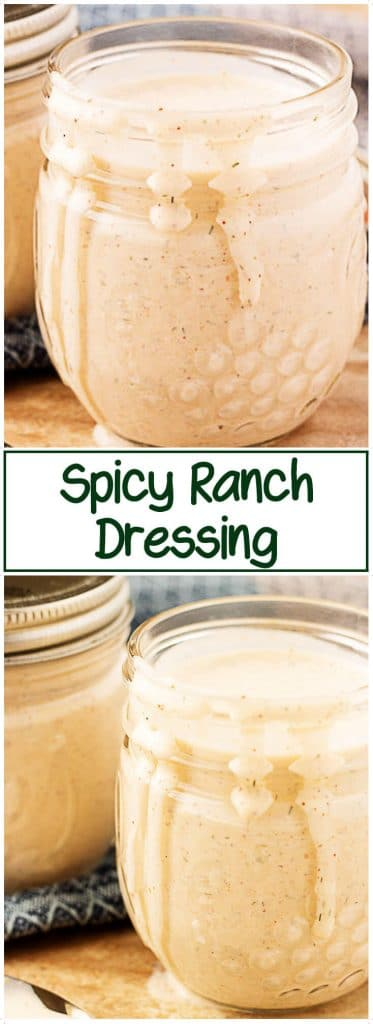 On the top and bottom are the ranch dressings in mason jars.