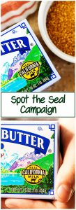 A long photo showing the butter boxes with the seal.