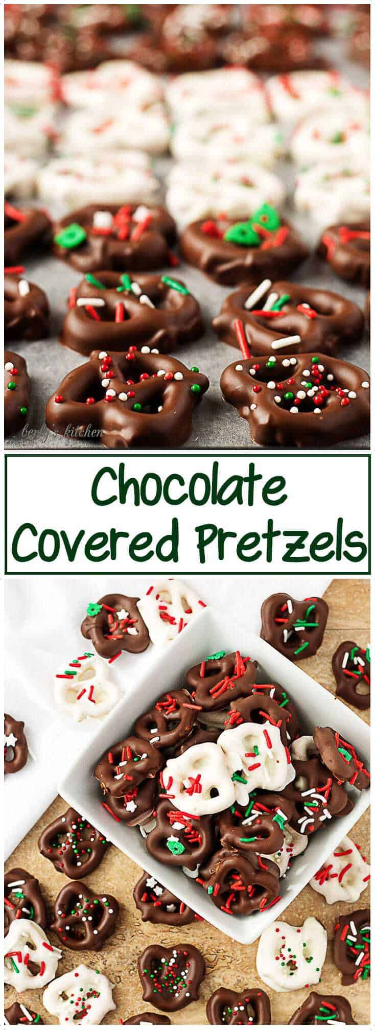 this holiday season try our chocolate covered pretzels recipe a salty crunchy pretzel - Christmas Chocolate Covered Pretzels
