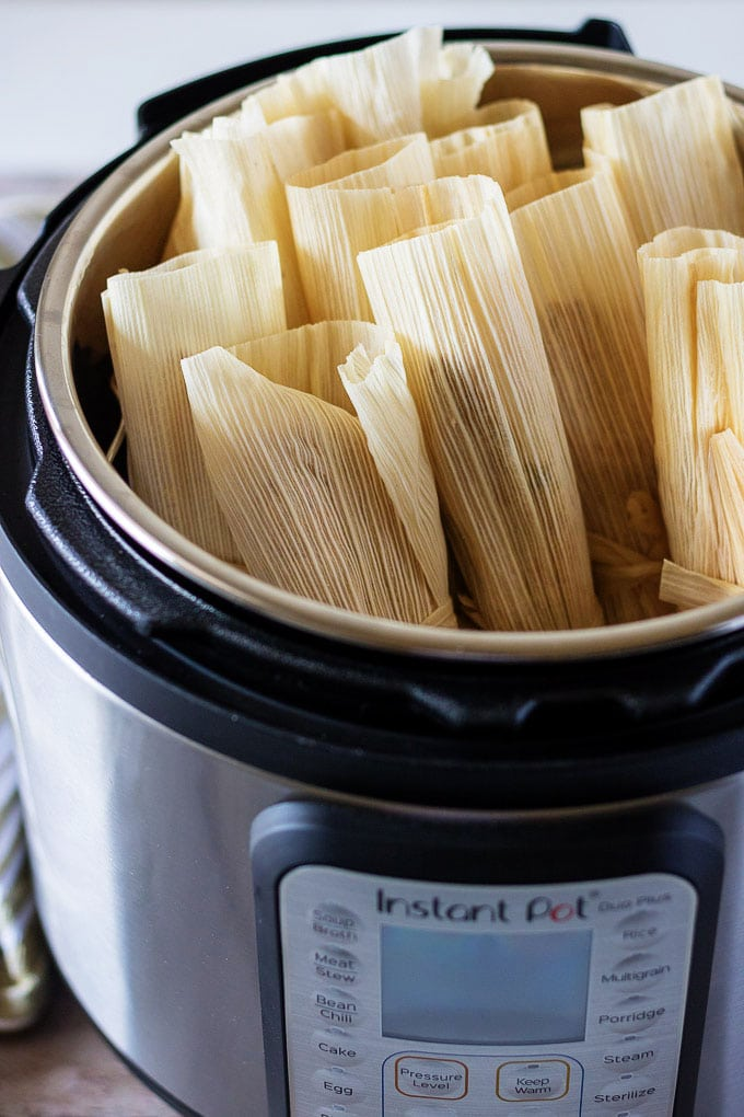 Homemade Tamales in the Instant Pot.