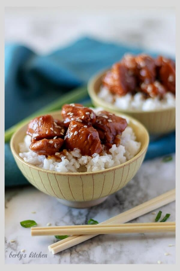 Photo of Instant Pot Mongolian Chicken used for Pinterest.