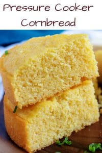 Photo of stacked buttermilk cornbread used for Pinterest.