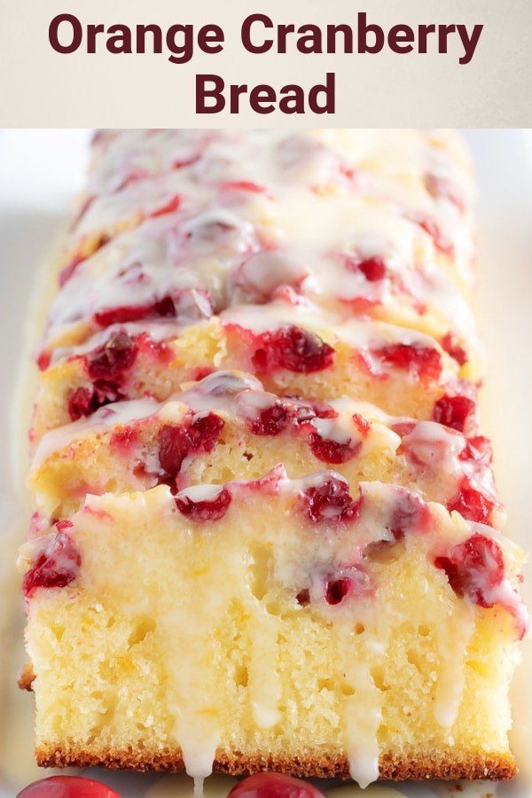 This orange cranberry bread is incredibly moist, dense, and full of orange and cranberry in every bite. It's even topped with a sweet orange glaze that puts it over the top. #orangecranberrybread #cranberrybread #dessert #sweetbread #berlyskitchen #Thanksgivingrecipe #holidayrecipe #holidaydessert #orangeglaze