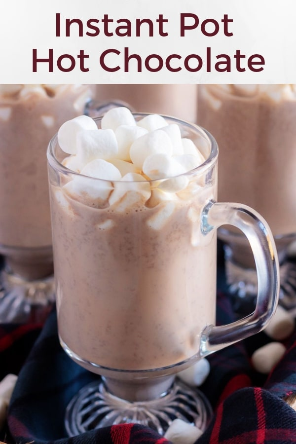 Instant Pot Hot Chocolate Recipe used for Pinterest.