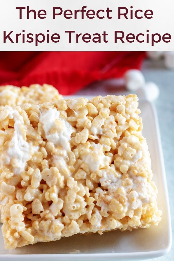 Photo of the perfect rice krispie treat used for pinterest.