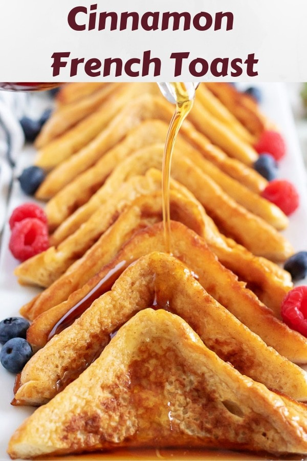 Photo of cinnamon french toast used for Pinterest.