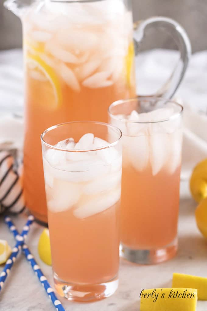 A pink lemonade version of the Instant Pot lemonade recipe.