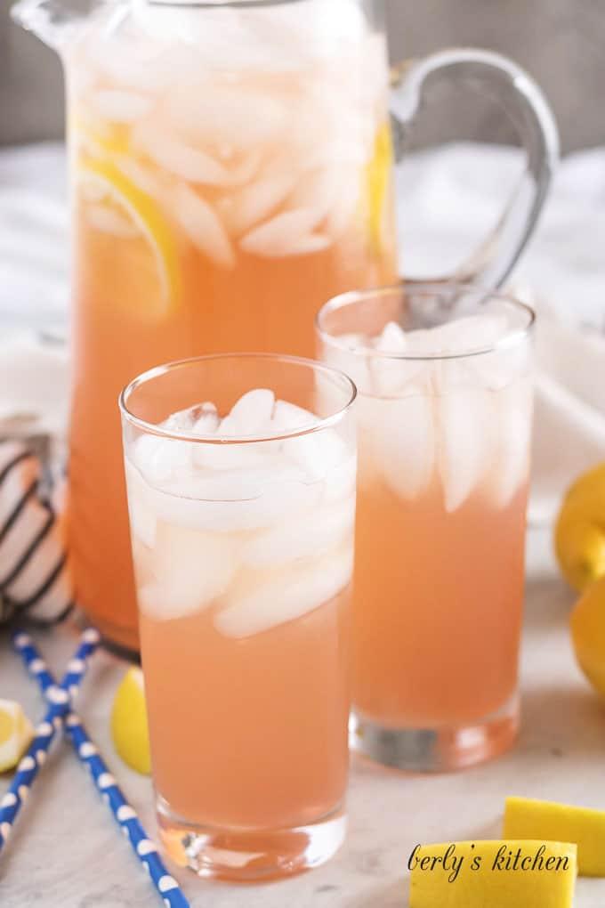 A pink lemonade version of the Instant Pot lemonade recipe.