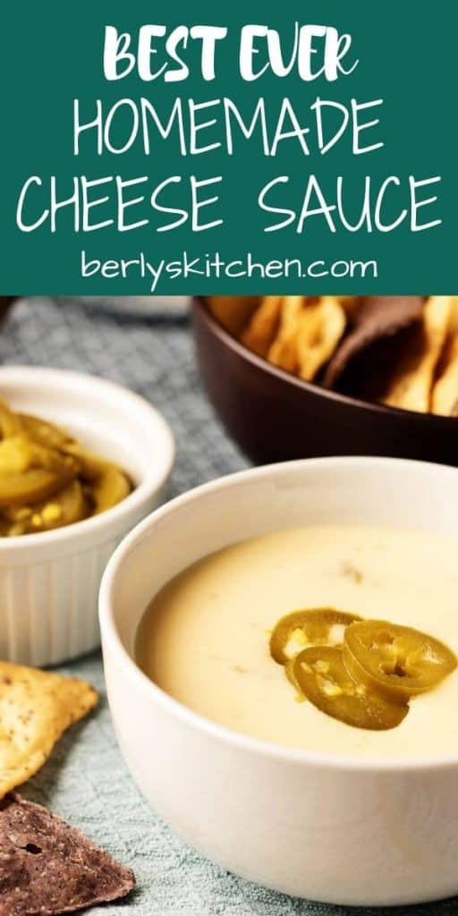 Best Ever Homemade Cheese Sauce Pin used for Pinterest.