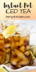 Instant Pot Iced tea used for Pinterest.