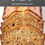 Photo of banana bread used for Pinterest.