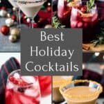 Four of our best holiday cocktails included in a cocktail round up.