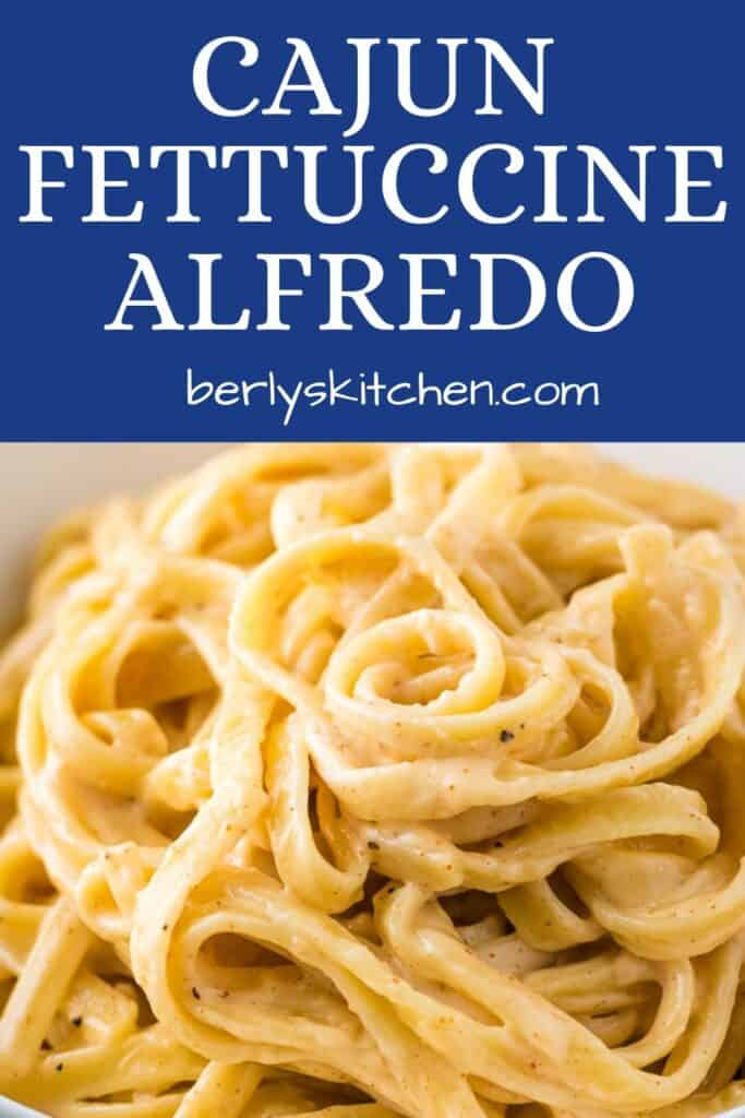 Spicy alfredo pasta showing all the seasonings.