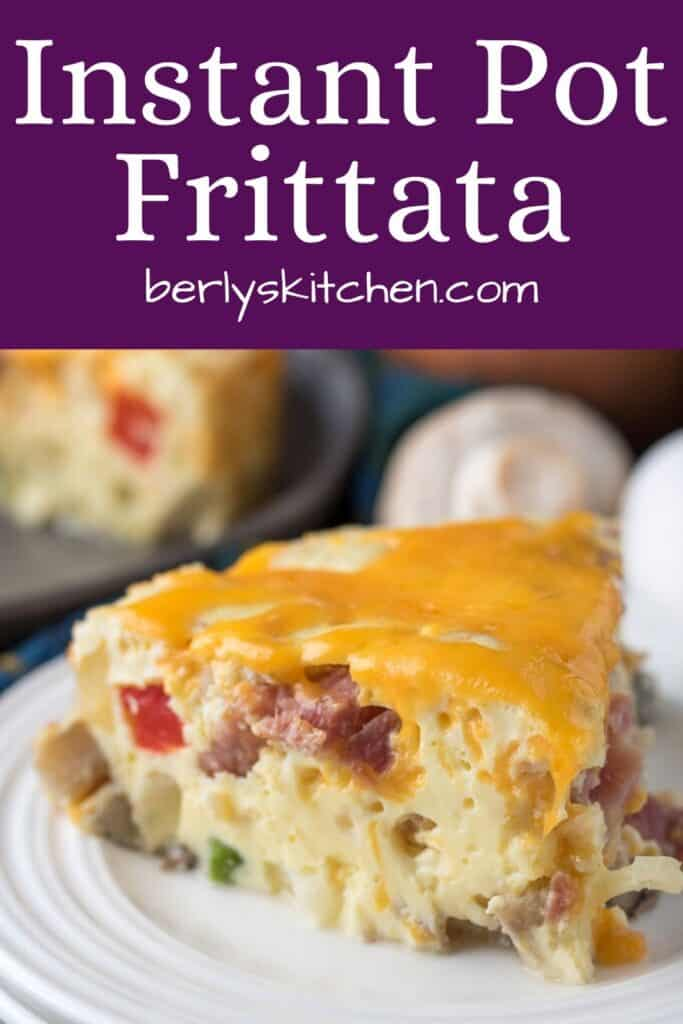 A close-up view of the Instant Pot ham frittata.