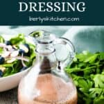 The finished poppy seed salad dressing in a bottle.