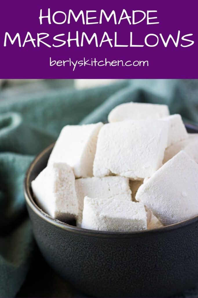 The simple marshmallow recipe served in a decorative bowl.