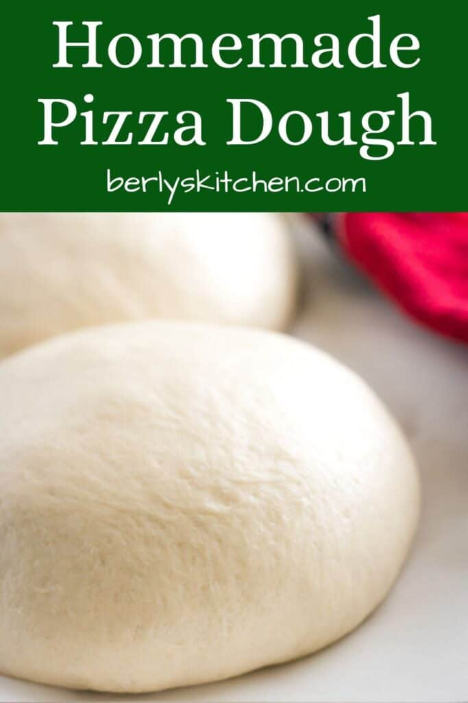A close-up of the finished homemade Publix pizza dough.