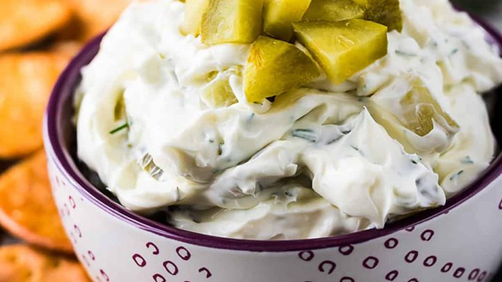 Dill pickle dip featured image recipes