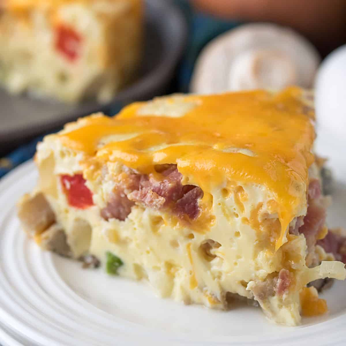 Instant Pot frittata topped with cheese.