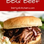 A slow cooked and shredded BBQ sandwich.