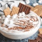 The finished smores dip recipe in a bowl.