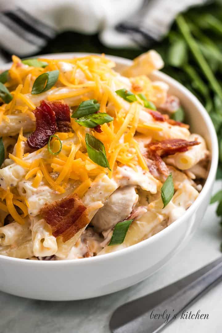 Chicken bacon ranch pasta salad 5 chicken bacon ranch pasta salad