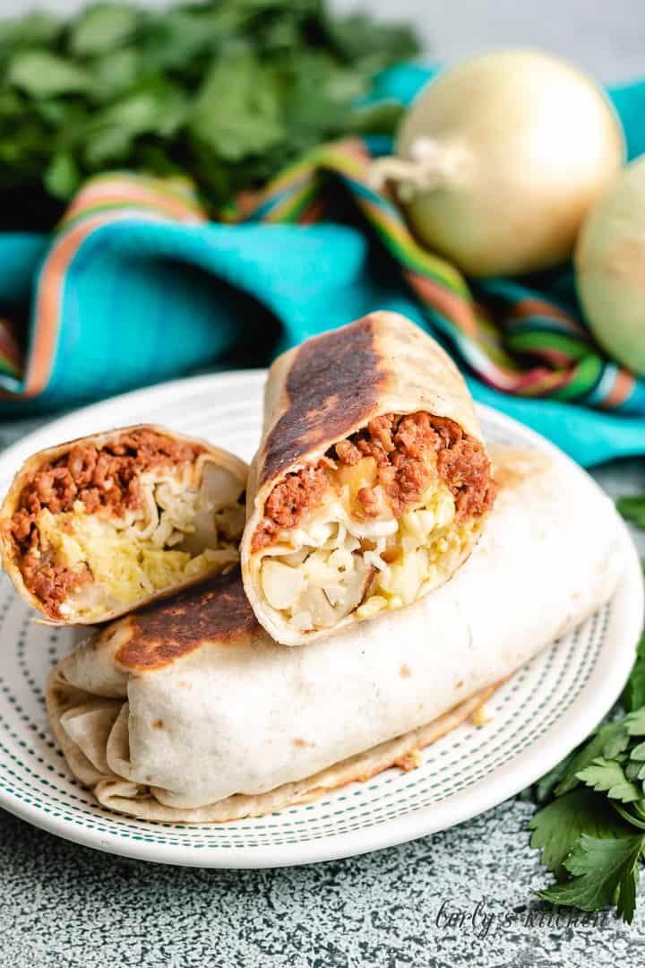 Chorizo breakfast burritos 5 chorizo breakfast burritos