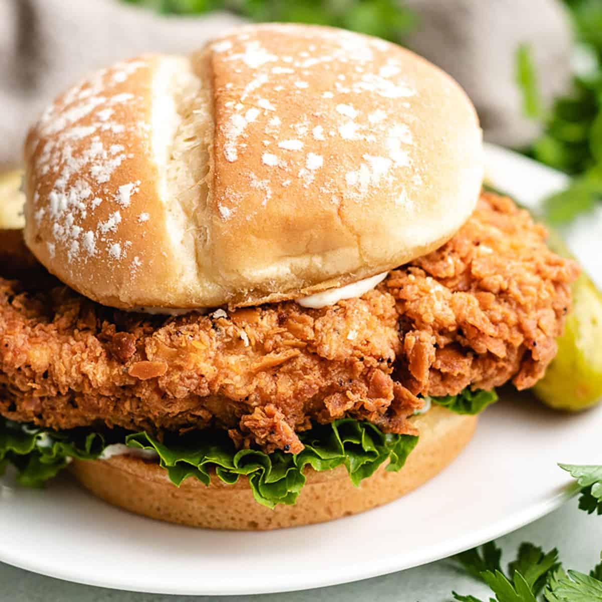 Spicy chicken sandwich featured image recipes
