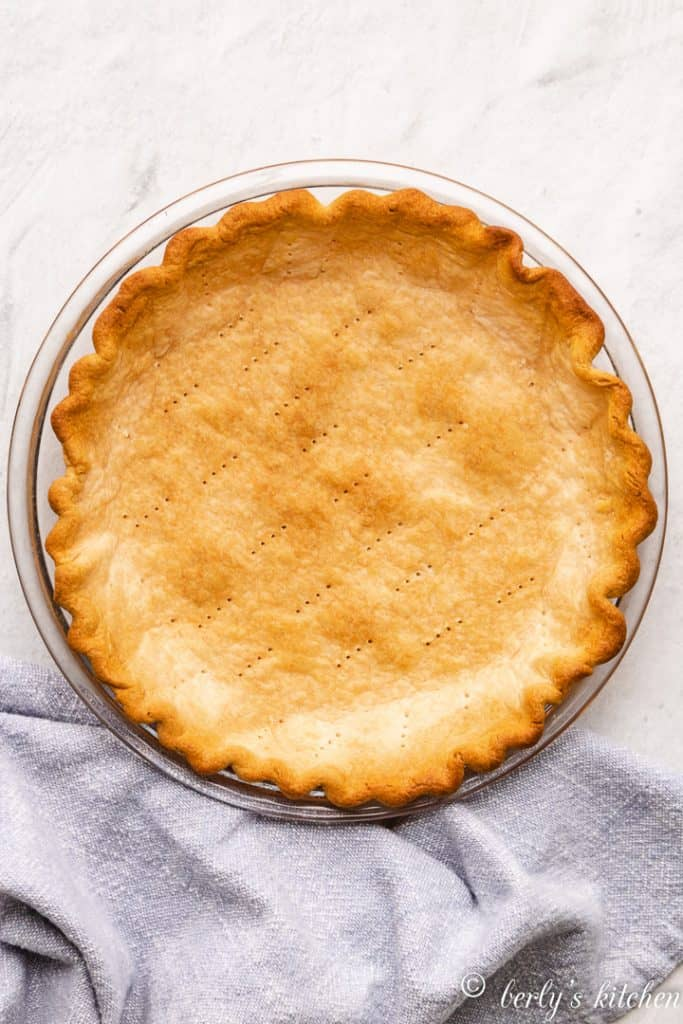 A pre-baked 9-inch pie crust.