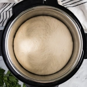 Puffy dough in the Instant Pot.