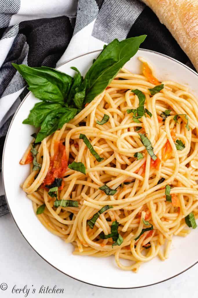 Tomato basil pasta 7 simple tomato basil pasta