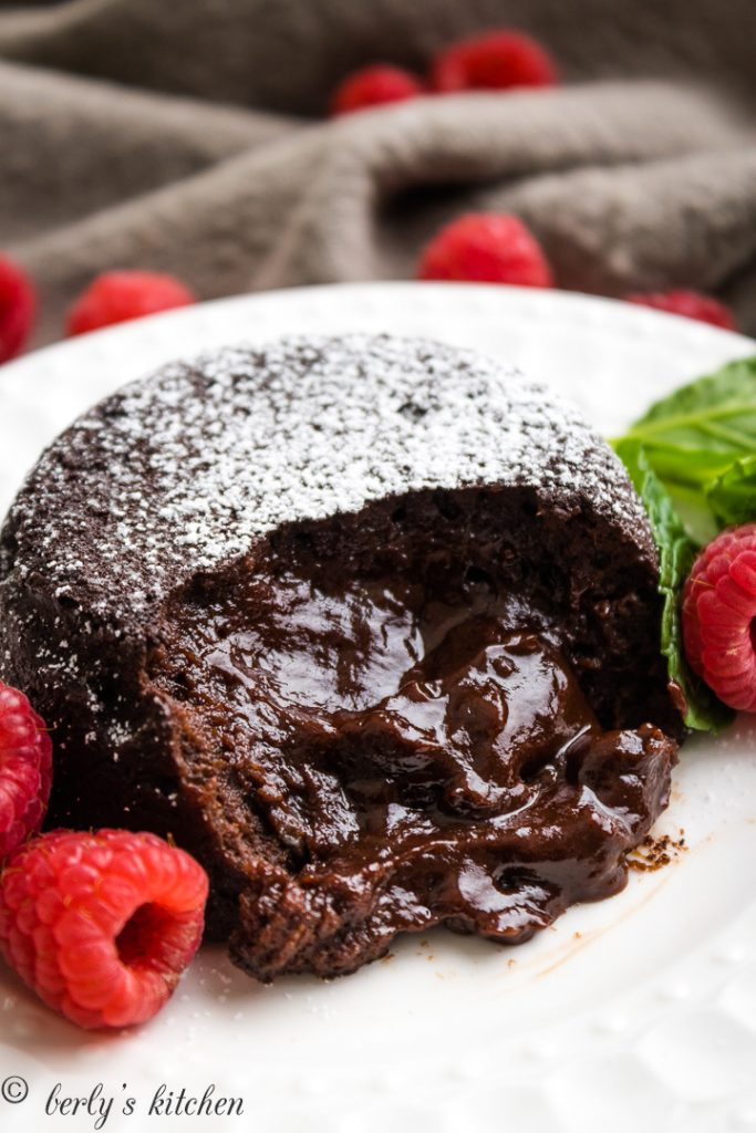 Instant Pot Lava Cakes with fresh berries.