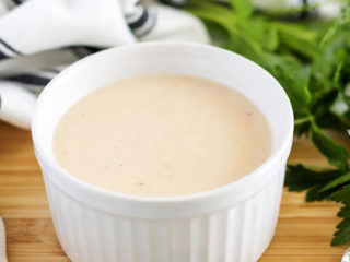 Substitute for Cream of Chicken Soup in a white ramekin.