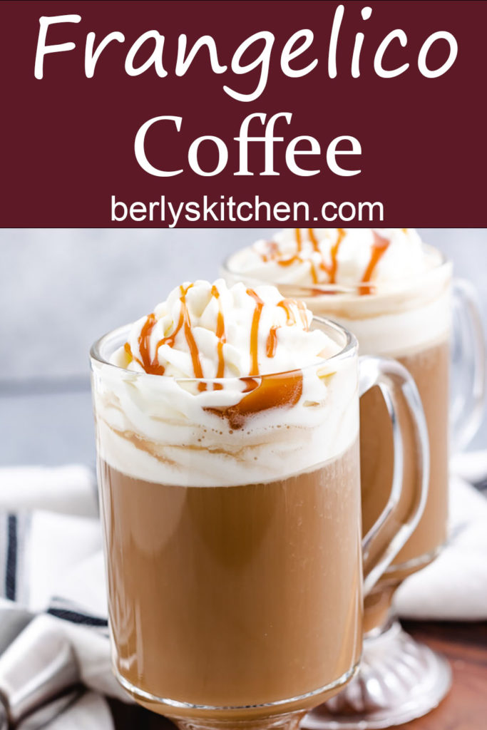 Coffee topped with homemade whipped cream.