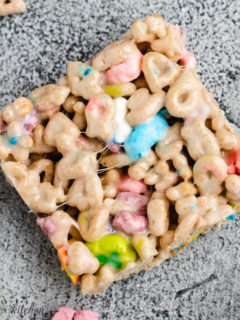Marshmallow treats with colorful marshmallows.